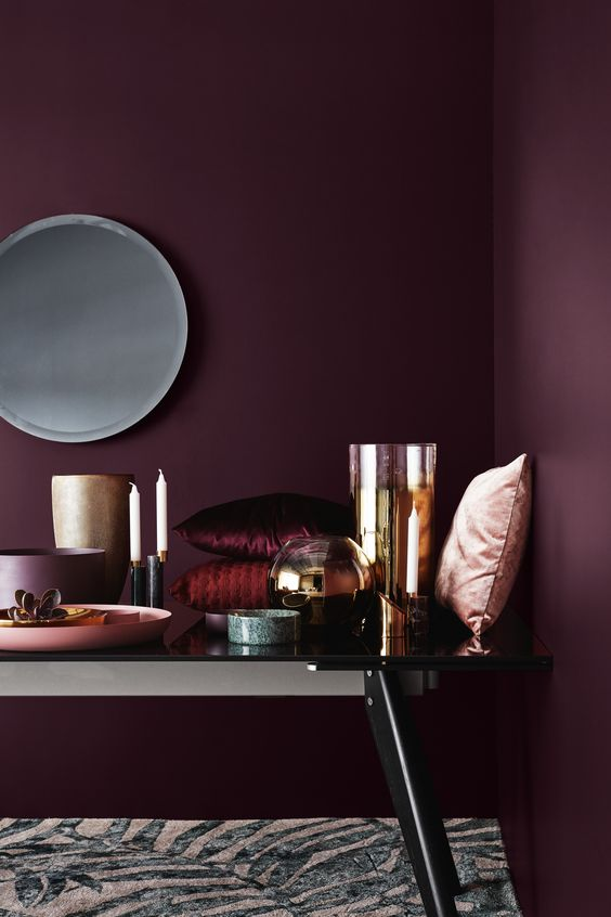 D interieurtrends voor 2017 for Interieur aubergine
